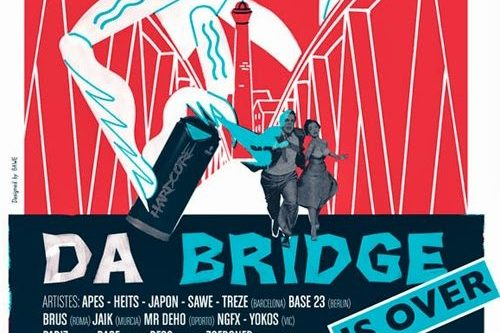 Un cartell de luxe per a la nova edició del festival de graffiti de Vic «Da Bridge is over»