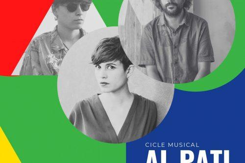 A punt per la 7a edició de Al Pati, el cicle de concerts vora els llibres, amb Carla Collado, Carles Viarnès i Anna Andreu